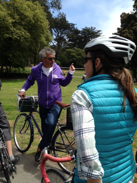 surveying bicycle access to Golden Gate Park with Andy Thornley