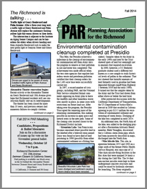Fall 2014 PAR Newsletter cover