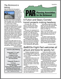 Fall 2015 PAR Newsletter cover