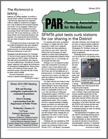 Winter 2015 PAR Newsletter cover